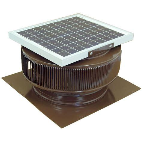 solar powered home fans active ventilation 1007 cfm brown powder coated 15 watt