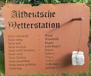 Tafel Für Draußen : wetterstation garten schild metall rost deko edelrost schild gartendekorationen shop ~ Markanthonyermac.com Haus und Dekorationen