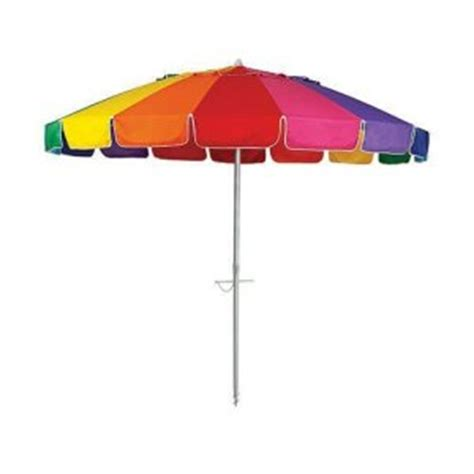 carnivale umbrella 8ft canopy rainbow