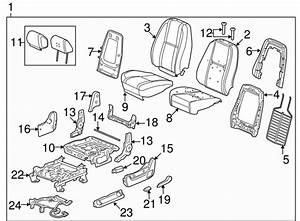Genuine Gm Seat Back Frame 20951086