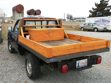 wood truck bed custom built all wooden truck bed made from recycled Diy