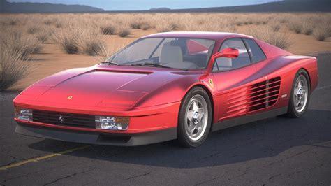 ferrari testarossa ferrari testarossa 1984 3d model