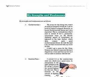 strengths and weaknesses essay writing
