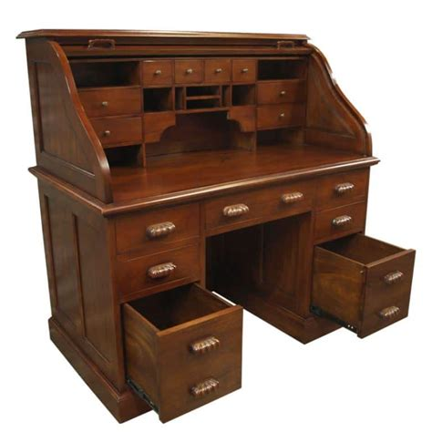 roll top bureau mahogany akd furniture