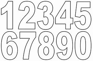 Numbers 1 To 10 Clipart Black And White - ClipartXtras