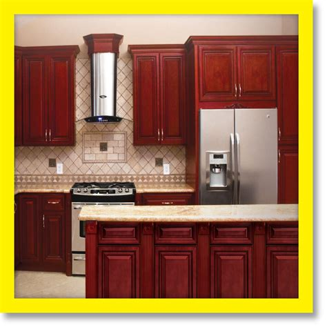 cherryville  wood kitchen cabinets cherry stained