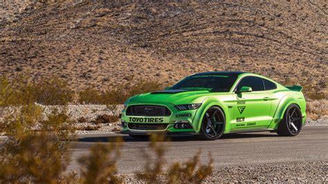 Green Ford Mustang Gt Ferrada Wheels 5k Wallpaper  Hd Car