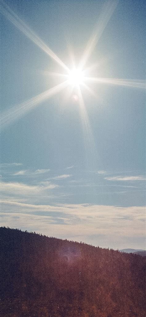 ms sunny day mountain sky blue clear nature flare wallpaper
