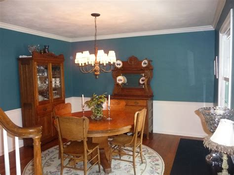 dining room after paint color gliddeon absolutely teal
