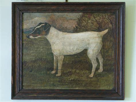 bristles original oil  board   dog oil paintings