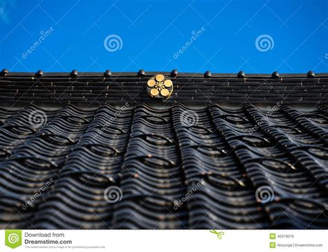 traditional japanese roof stock photo image 40379019