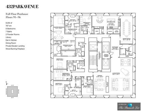 design blueprints luxury penthouse floor plan ph92 432 park avenue new york ny http bit ly 1wrhotd via