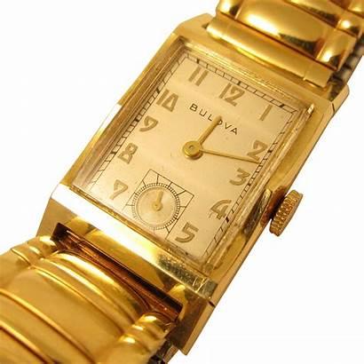 Bulova Wrist Mens Solid 14k Yellow Jewels