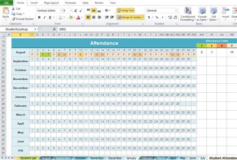 professional daily attendance format template excel tmp