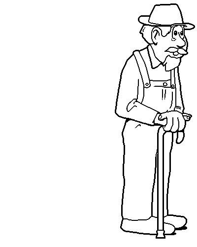 grandfather coloring pages    print