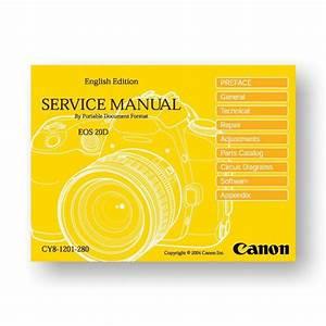Canon 20d Service Manual Parts List