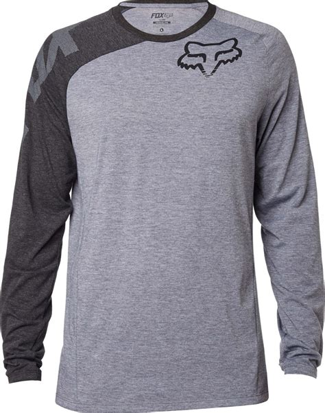fox motocross t shirts fox racing mens distinguish long sleeve motocross t shirt