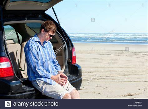 Man Looking Sad In Car Stock Photos & Man Looking Sad In