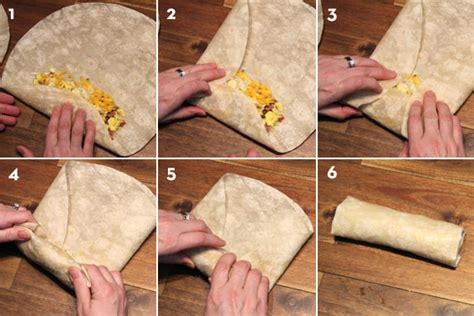 Homemade Frozen Breakfast Burrito Assembly Line Team