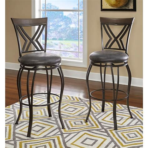 At Home Bar Stools by Home Decorators Collection Circles Back Swivel Counter