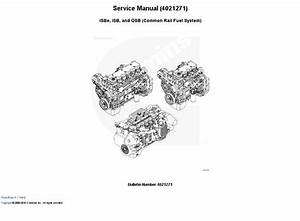 Cummins Engine Isbe  Isb  And Qsb Service Manual