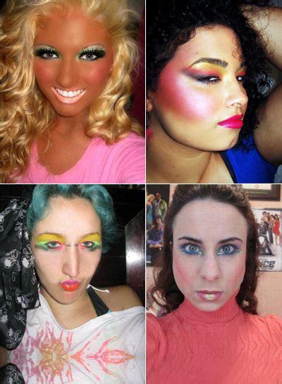 worst makeup pics   internet beauty bad makeup