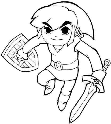draw link  legend  zelda  cartoonized style