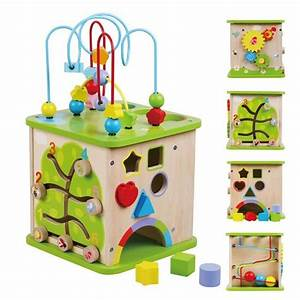 Cube En Bois Bébé : bo te interactive en bois jeu ducatif b b enfant 18m multicolore achat vente bo te ~ Dallasstarsshop.com Idées de Décoration