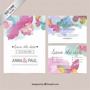 watercolor wedding invitation vector free download With wedding invitations templates freepik