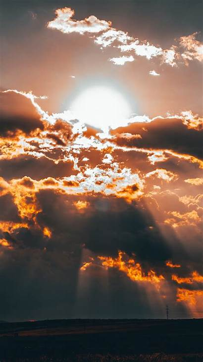 Sunset Clouds Sun Background Iphone 1080 Wallpapers