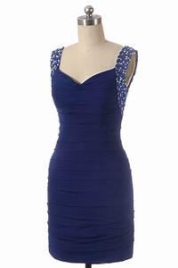 solde robe de cocktail courte bleu bretelles bijoutees With robe de cocktail combiné avec soldes bijoux pandora