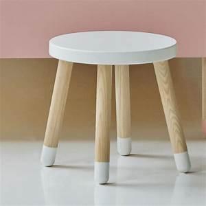 Tabouret Bas Scandinave : tabouret rond bois ~ Farleysfitness.com Idées de Décoration
