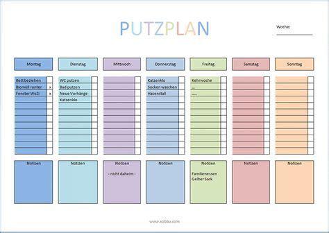Wohnung Putzen Plan by Putzplan Haushalt Vorlage Pdf Tips Und Tricks How To