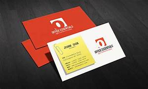 Creative office supplies business card template free for Office business card templates free