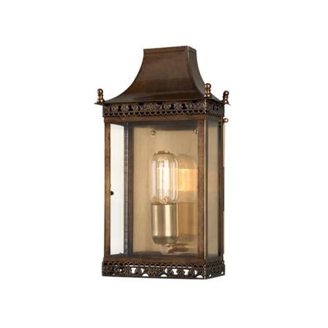 elstead lighting regents park solid brass outdoor wall lantern