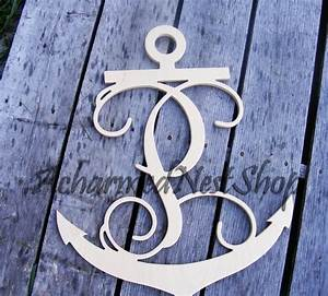 24 inch anchor wooden single letters wall monogram wood wall With 24 inch wall letters