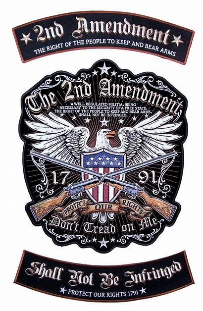 Biker Amendment 2nd Patches Rights Patch Patriotic
