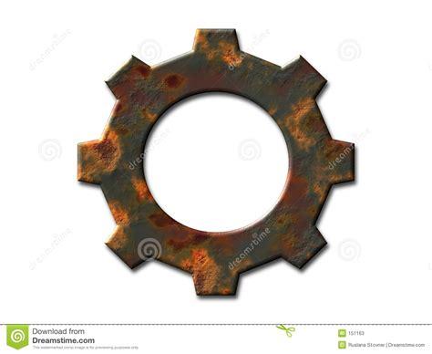 rusty gear stock  image