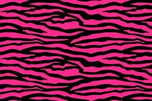 Neon Pink Zebra Print Backgrounds