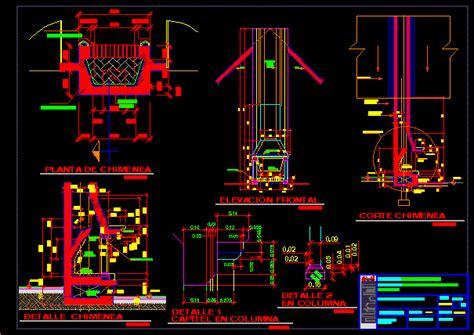 chimney details dwg section  autocad designs cad