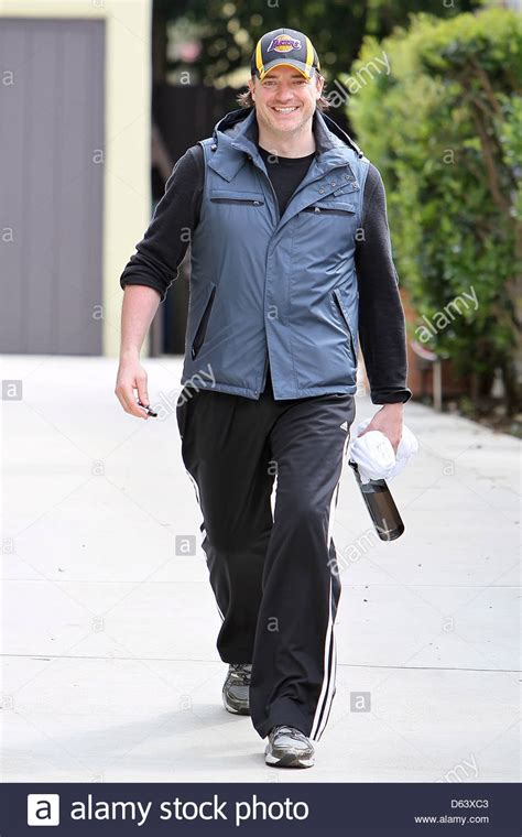 Brendan House by Brendan Fraser Is All Smiles As He Leaves The House Of His