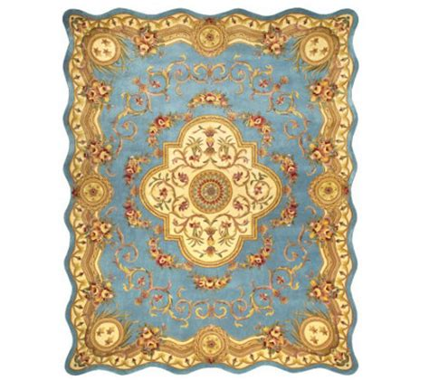 qvc rugs clearance royal palace magnifique scalloped edge 8 x 10 wool rug