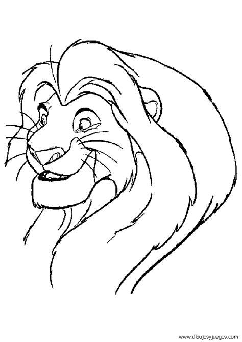 rey-leon-disney-190b | Dibujos y juegos, para pintar y