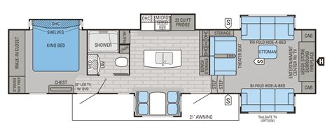 Jayco 5th Wheel Hauler Floor Plans by Jayco 2016 Floorplans 5th Wheels Autos Post