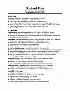 biologist resume With biology resume template