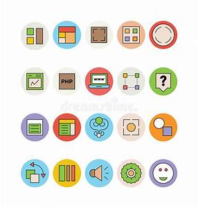 Design And Development Vector Icons 8 Stock Illustration ...