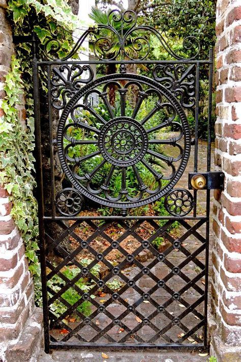 garden iron metal garden gate in charleston sc garden gate fence wall