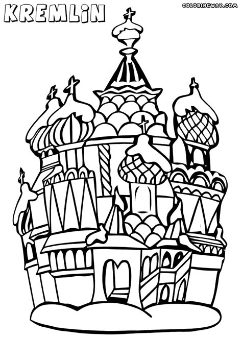 kremlin coloring pages coloring pages    print