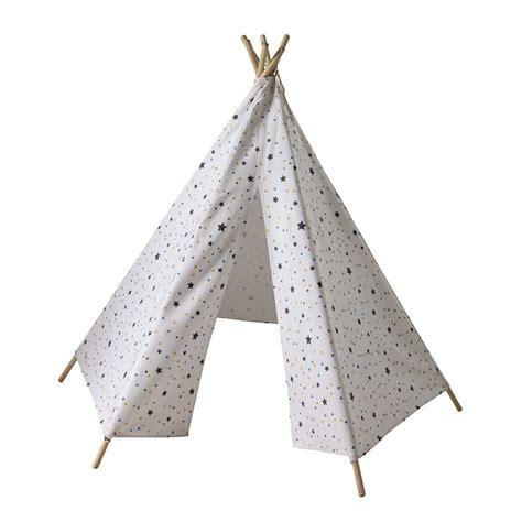 chambre fille pastel tipi enfant motifs triangles et étoiles h 145 cm