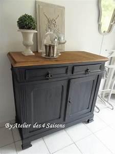 les 25 meilleures idees de la categorie meubles peints sur With couleur de peinture bleu 9 repeindre un meuble avec une peinture effet metal deco cool